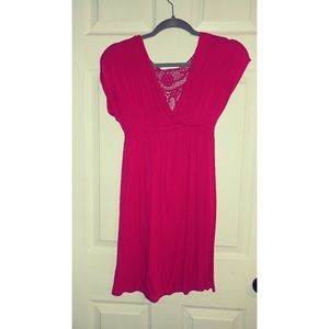Hot Pink Charlotte Russe Dress/Cover-up